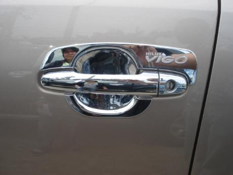 door handle chrome insert