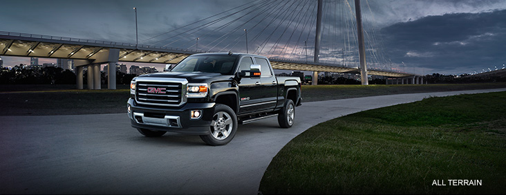 Image showing the 2017 GMC Sierra 2500HD featuring the All Terrain X trim package.