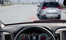 Image showing the driver alert technology in the 2017 Sierra 2500HD heavy-duty pickup truck.