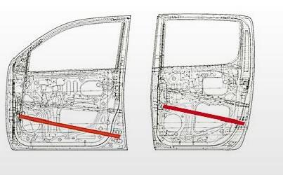 side impact door beam of Toyota Vigo Hilux